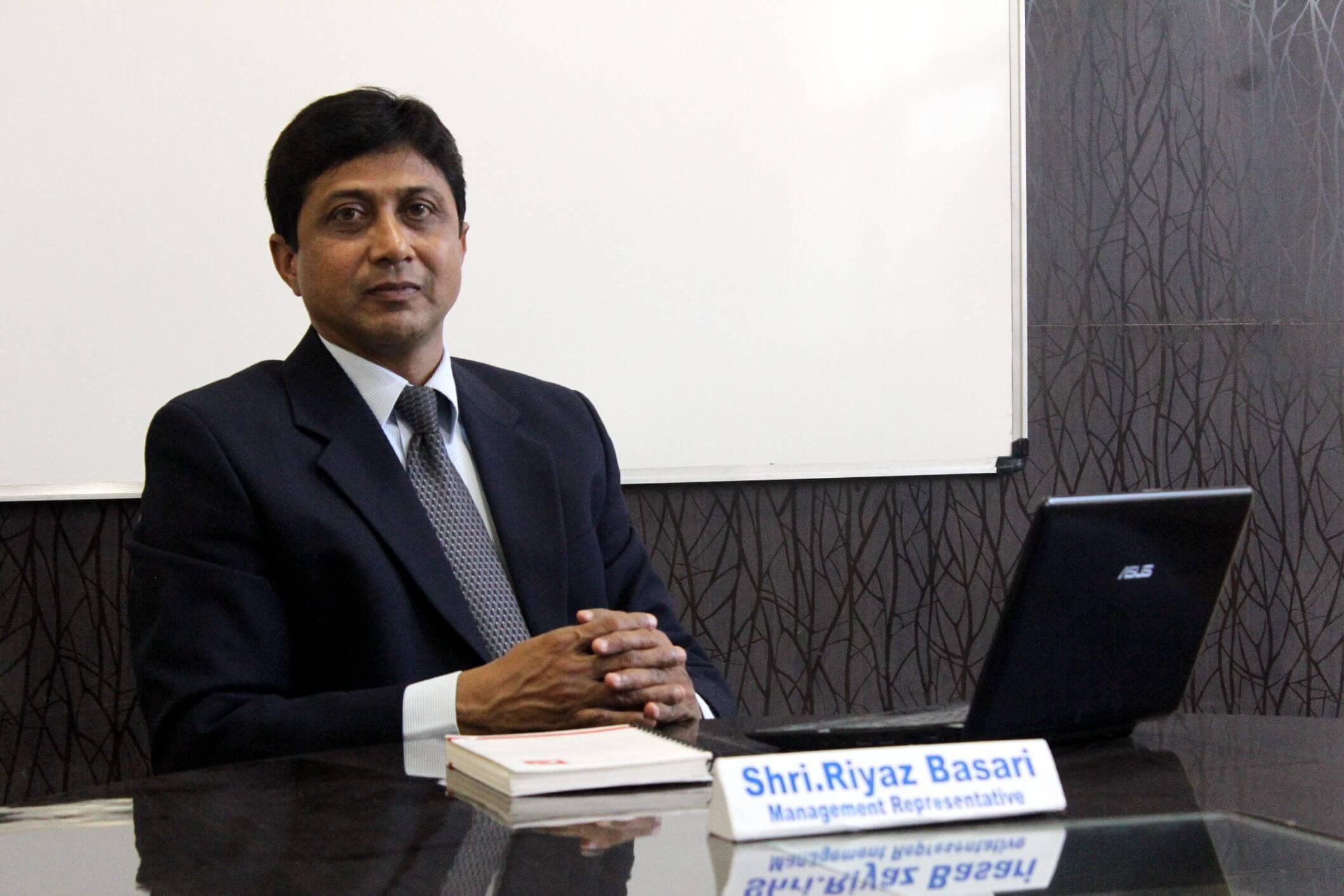 IBMR Executive Director. Shri Riyaz Basari